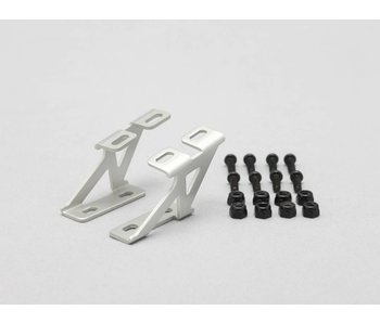 Yokomo Aluminium Wing Stay Low Version - Silver (1set)