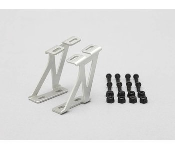 Yokomo Aluminium Wing Stay Middle Version - Silver (1set)