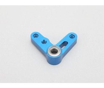Yokomo Aluminium Steering Bell Crank L-Type - Blue