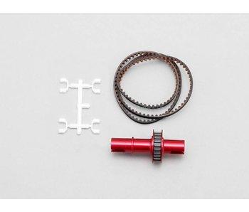 Yokomo FCD Gear x1.8 Solid Axle Set for Rear- Red