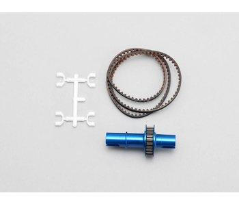 Yokomo FCD Gear x1.8 Solid Axle Set for Rear - Blue