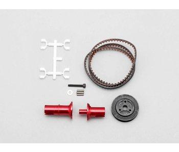 Yokomo FCD Gear x1.5 Solid Axle Set for Rear - Red