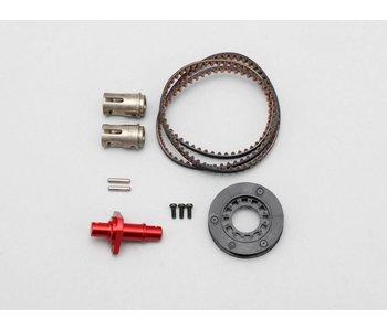 Yokomo FCD Gear x1.3 Solid Axle Set for Rear - Red