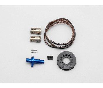 Yokomo FCD Gear x1.3 Solid Axle Set for Rear - Blue