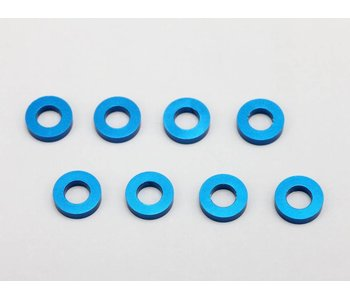 Yokomo Aluminium Shim φ3.0mm x φ6.0mm x 1.5mm - Blue (8pcs)