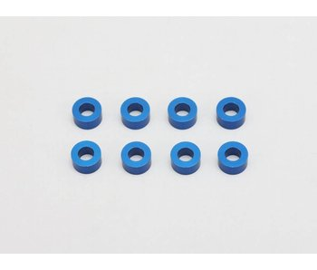 Yokomo Aluminium Shim φ3.0mm x φ6.0mm x 3.0mm - Blue (8pcs)