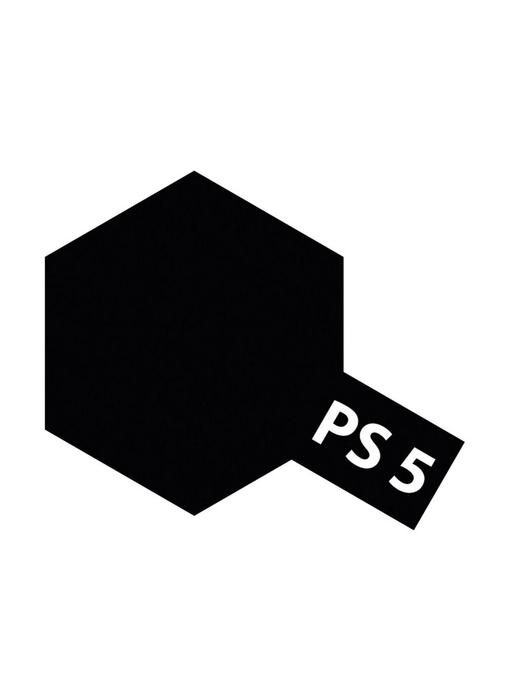 Tamiya Spray Paint Can - PS-5 Black for Polycarbonate Bodies (100ml)