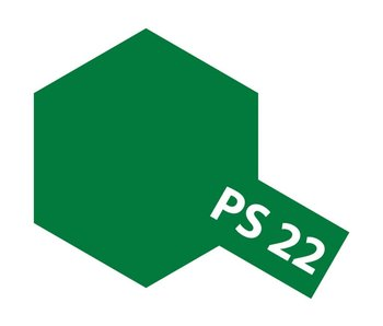 Tamiya Spray Paint Can - PS-22 Racing Green for Polycarbonate Bodies (100ml)
