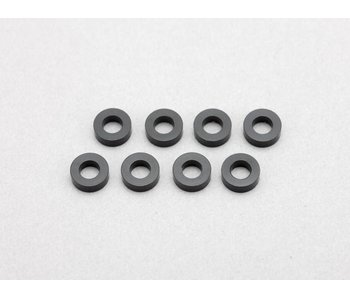 Yokomo Aluminium Shim φ3.0mm x φ6.0mm x 2.0mm - Black (8pcs)