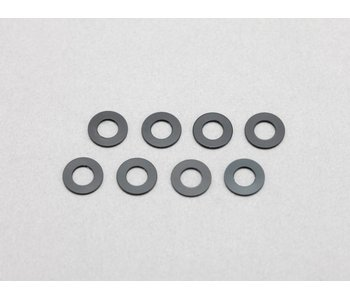 Yokomo Aluminium Shim φ3.0mm x φ6.0mm x 0.5mm - Black (8pcs)