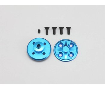 Yokomo Aluminium Spur Gear Hub Set - Blue