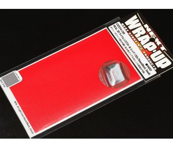 WRAP-UP Next REAL 3D Lens Decal Block Small 130mm x 75mm - Red