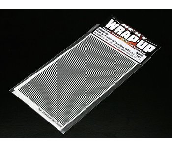 WRAP-UP Next REAL 3D Gril Decal Grid Mesh Thick 130mm x 75mm Transparant Base