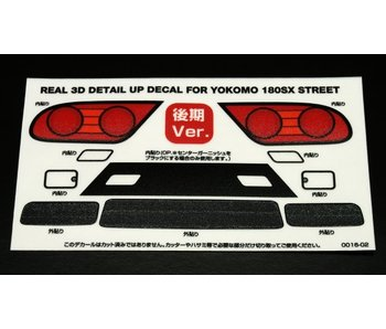 WRAP-UP Next REAL 3D Detail Up Decal Set for Yokomo 180SX Street Kouki (Late Version)