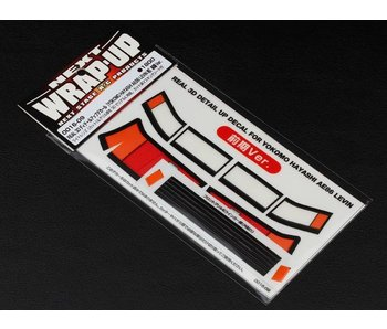 WRAP-UP Next REAL 3D Detail Up Decal Set for Yokomo AE86 Levin Hayashi Zenki (Early Version)