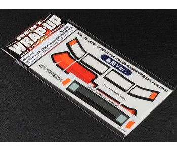 WRAP-UP Next REAL 3D Detail Up Decal Set for Yokomo AE86 Levin Sunrise Kouki (Late Version)