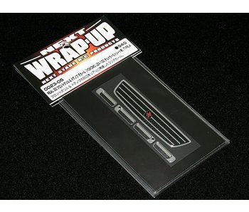 WRAP-UP Next REAL 3D Front Grill & Door Handle Decal Set for Yokomo JZX-100 Chaser Street Type-A