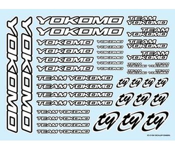 Yokomo Team Yokomo Logo Decal - White