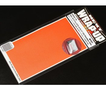 WRAP-UP Next REAL 3D Lens Decal Block Delta 130mm x 75mm - Orange