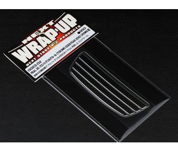 WRAP-UP Next REAL 3D Front Grill Decal for Yokomo Crown - Chrome