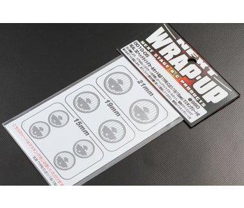 WRAP-UP Next REAL 3D Head Light Decal Circle Type-C (15/19/21mm) with Mask Sheet