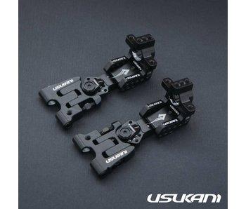 Usukani AR Ver 2.4 Rear Arm Set 2.5mm - Black - DISCONTINUED