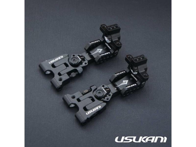 Usukani US88110-BK - AR Ver 2.4 Rear Arm Set 2.5mm - Black - DISCONTINUED