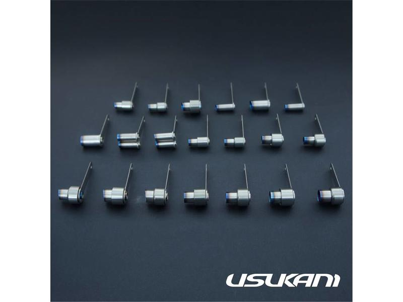 Usukani US-88513A - Stainless Steel Exhaust Pipe 20mm x φF8mm/R12mm - Type A