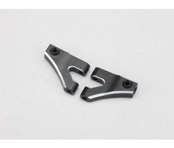 Yokomo Aluminium Front Upper A-Arm - Black Edge Design (1 set)