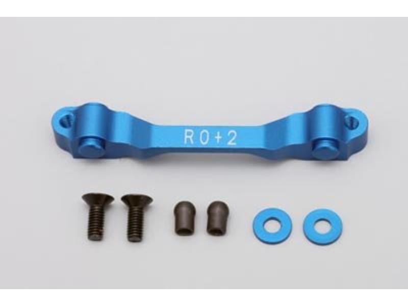 Yokomo SD-300RR2 - Aluminium Rear Suspension Mount Rear Side Toe-In 2.0° - Blue