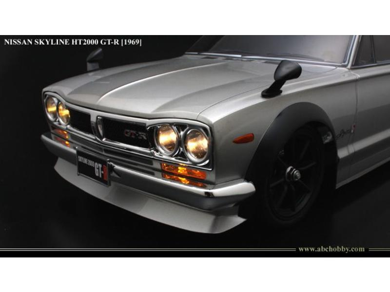 ABC Hobby 66093 - Nissan Skyline HT2000 GT-R (KPGC10 Hakosuka) + Chrome Parts