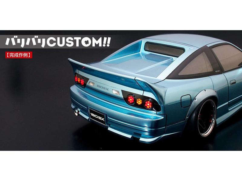 ABC Hobby 66731 - 3-pc Rear Wide Wing for Nissan 180SX (66137)