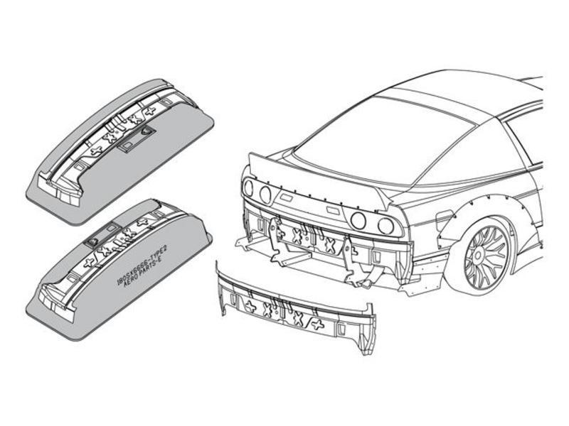 ABC Hobby 66728 - Rear Inner Panel for Nissan 180SX (66137)