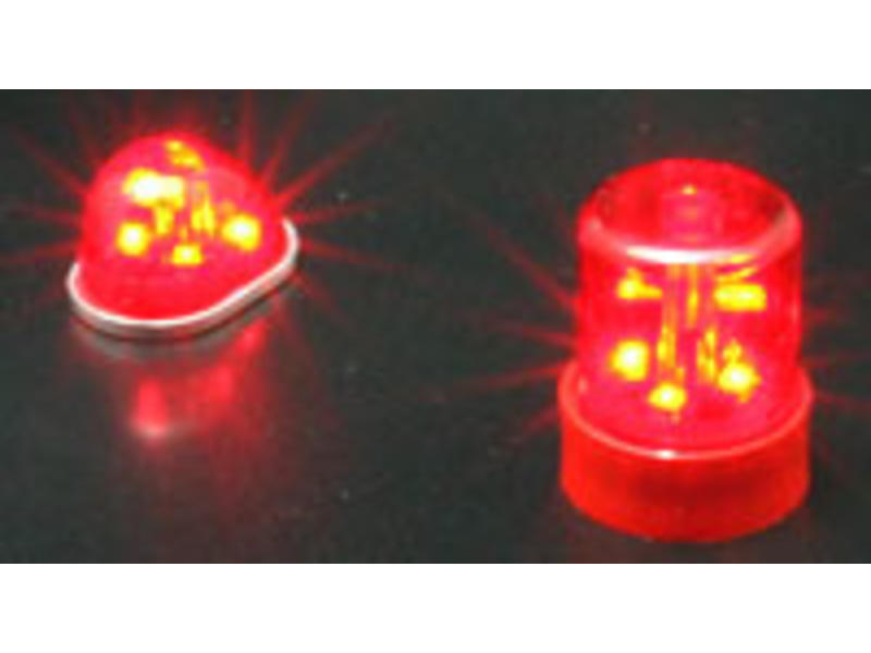 ABC Hobby 62742 - Police Car Light Round Type - Red