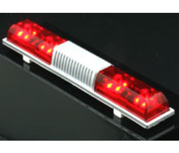 ABC Hobby Police Car Light Square Sonic Type - Red