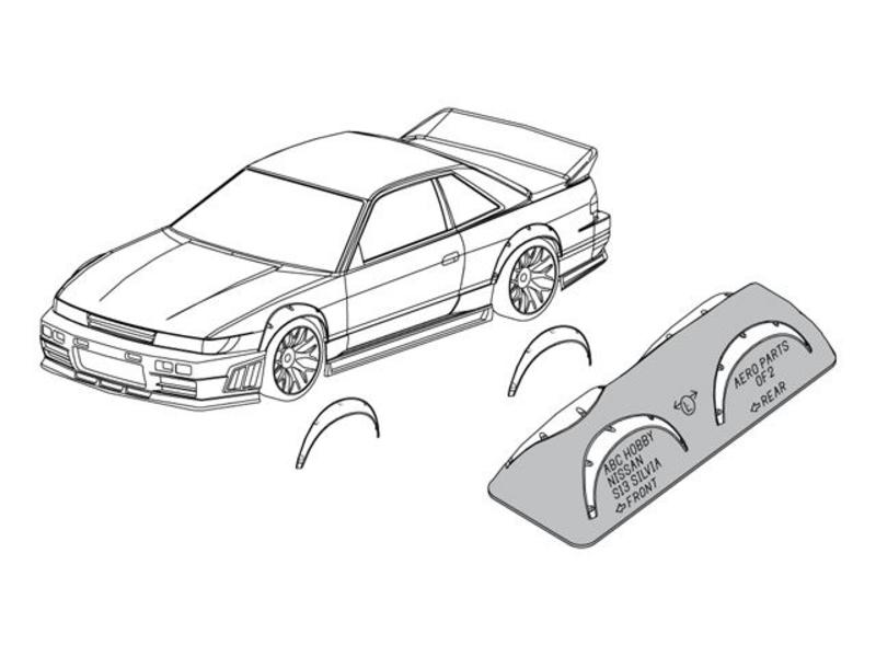 ABC Hobby 66709 - Over Fender Kit for Nissan Silvia S13 (66142)
