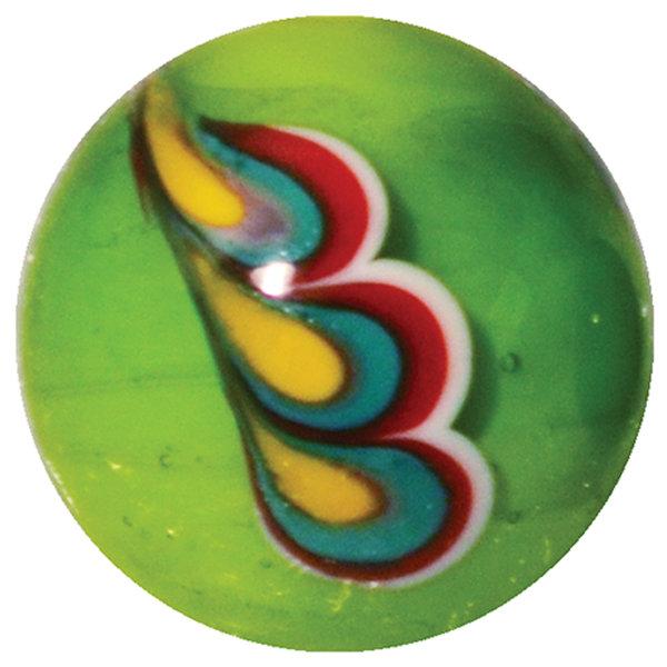Pfauenfeder - grün 22mm