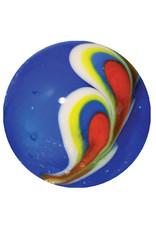 Pfauenfeder - blau, 22mm
