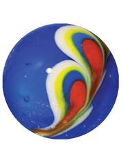 Pfauenfeder - blau 22mm