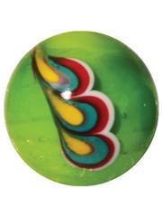 Pfauenfeder - grün 16mm
