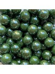 Dunkelgrüne Perle 16mm