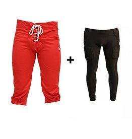 barnett barnett PACK PROTECTIVE PANTS Zestaw spodnie+ leggingsy kompresyjne dlugie