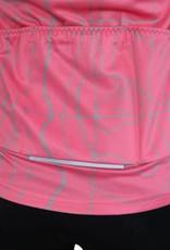 koszulka rowerowa  z długim rękawem rozowa
