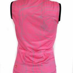 Różowa kamizelka rowerowa- wiatroszeczelna