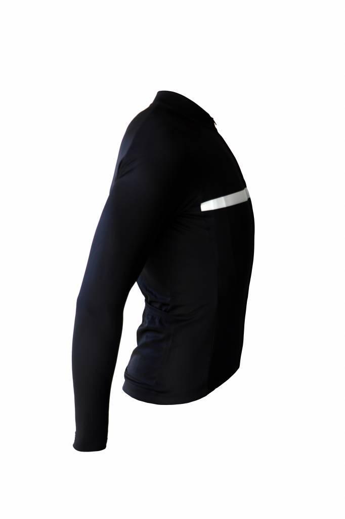 Koszulka rowerowa z długim rękawem, czarny i biały