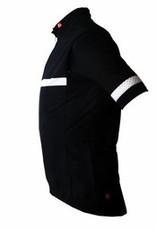 Czarno-biala kamizelka rowerowa- wiatroszeczelna