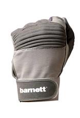 barnett FKG-01 rękawice futbolowe z zaciskiem dla wspomagających, szare