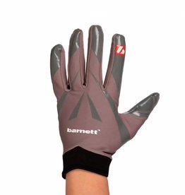 barnett FRG-03 profesjonalne rękawice futbolowe dla skrzydłowych, szare
