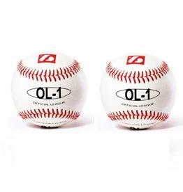 "barnett OL-1 Piłka baseballowa Elite, rozmiar 9"", biała, 2 sztuki"