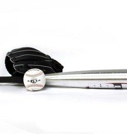 barnett BGBA-1 Zestaw baseballowy dla początkujących, Senior, aluminiowy kij, piłka, rękawica (BB-1 32, JL-120, TS-1)